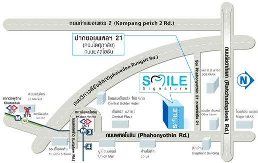 Smile Signature at Phahonyothin Map of Area