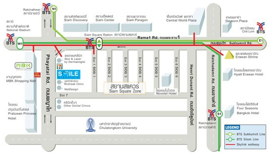 Smile Signature at Siam Square Map of Area